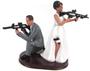 Custom Armed Couple Cake Topper Style 2
