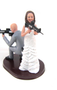 Armed Couple Cake Topper Style 3