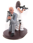 Custom Armed Couple Wedding Cake Topper Style 3