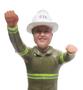 Custom Firefighter Climbing Ladder Wedding Cake Topper