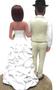 Custom Country Chic Wedding Cake Topper