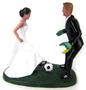 Custom Soccer Players Wedding Cake Topper