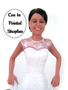 Custom Soccer Player Bride Wedding Figurine