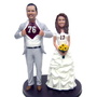 Custom Classic Big & Tall Superhero Sports Jersey Couple Cake Topper