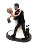 Custom Bride Removes Batman Mask Wedding Cake Topper - Back