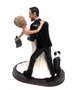 Custom Bride Removes Batman Mask Wedding Cake Topper - Back