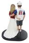 Custom Baseball Couple Wedding Cake Topper