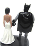 Custom Batman Groom w/ Mix & Match Bride Wedding Cake Topper