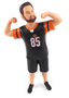 Hank Groom - football jersey groom figurine flexing muscles
