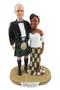 Custom Modern Scottish Couple Custom Wedding Cake Topper