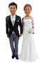 Custom Modern Holding Hands Wedding Cake Topper