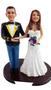 Custom US Army Mess Uniform Wedding Cake Topper with Bride