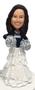 Cheerleader Bride Cake Topper Figurine
