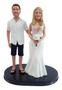 Short Sleeve Shirt and Shorts Groom w/ Mix & Match Bride Wedding Cake Topper