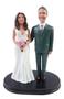 Teasing Suit Groom w/ Mix & Match Bride Wedding Cake Topper