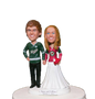 Custom Hockey Wedding Cake Toppers - Funny Style