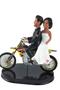 Custom Dirt Bike Riding Bride and Groom Wedding Cake Topper