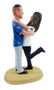 Custom Embracing Sports Couple Wedding Cake Topper