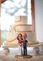 Custom Funny Baseball Fan Couple Wedding Cake Topper