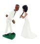 Custom baseball pitching groom wedding cake topper