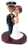 Custom Funny Style Army Officer Wedding Cake Topper