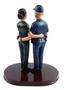 Custom Police Officer Wedding Cake Topper