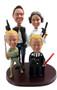 Star Wars Han Solo Princess Leia Darth Vader Luke Skywalker Custom Wedding Cake Toppers