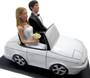 Convertible couple custom wedding cake topper