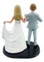 Custom Batman w/Mix & Match Bride Wedding Cake Topper