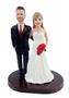 Custom Arms Around Wedding Cake Topper