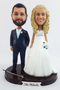 Personalized doctor bride and fishing groom wedding cake toppers