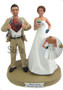 Baking Bride with Interchangeable Groom Custom Wedding Cake Topper