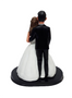 Wedding cake topper featuring Alfred Angelo gown