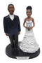 Big & Tall Groom with Bride Cake Topper