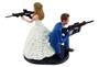 Custom Movie Mr. and Mrs. Smith Couple Wedding Cake Topper