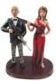 Zombie Hunting Couple Custom Wedding Cake Topper
