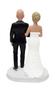 Custom Cute & Cozy Wedding Cake Topper