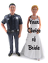 Police Officer Groom with Doctor Bride
