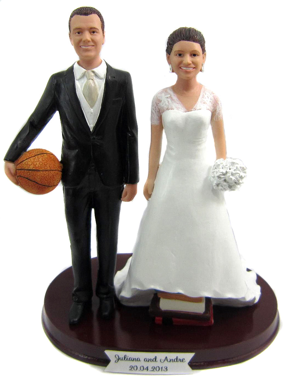 Basketball Wedding Cake Toppers - Custom, Personalized