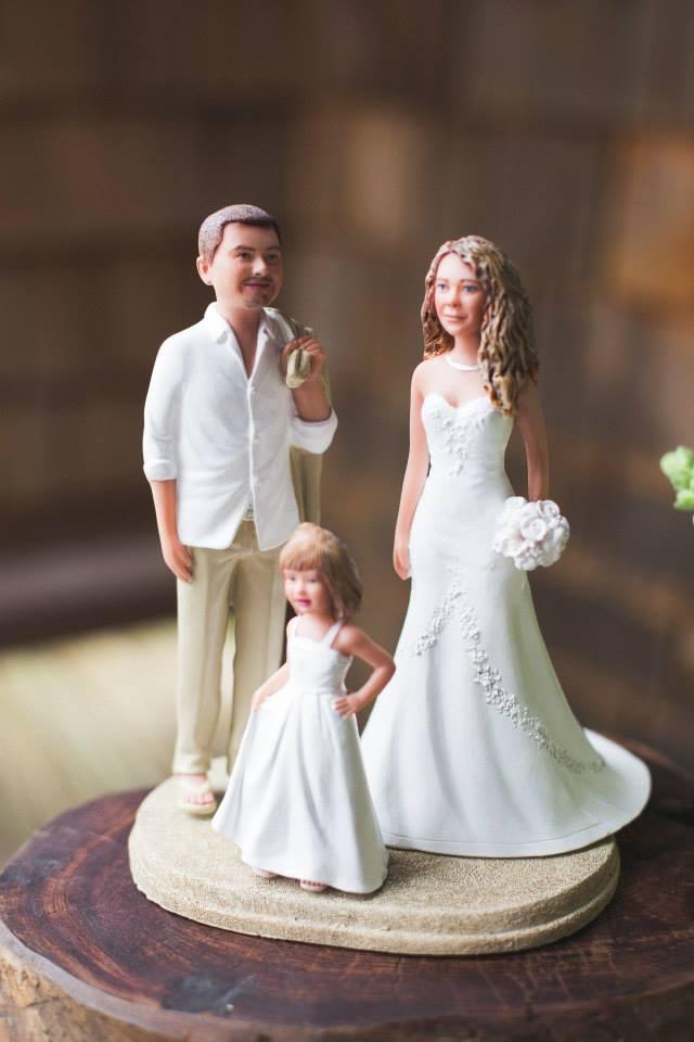 family custom wedding cake topper