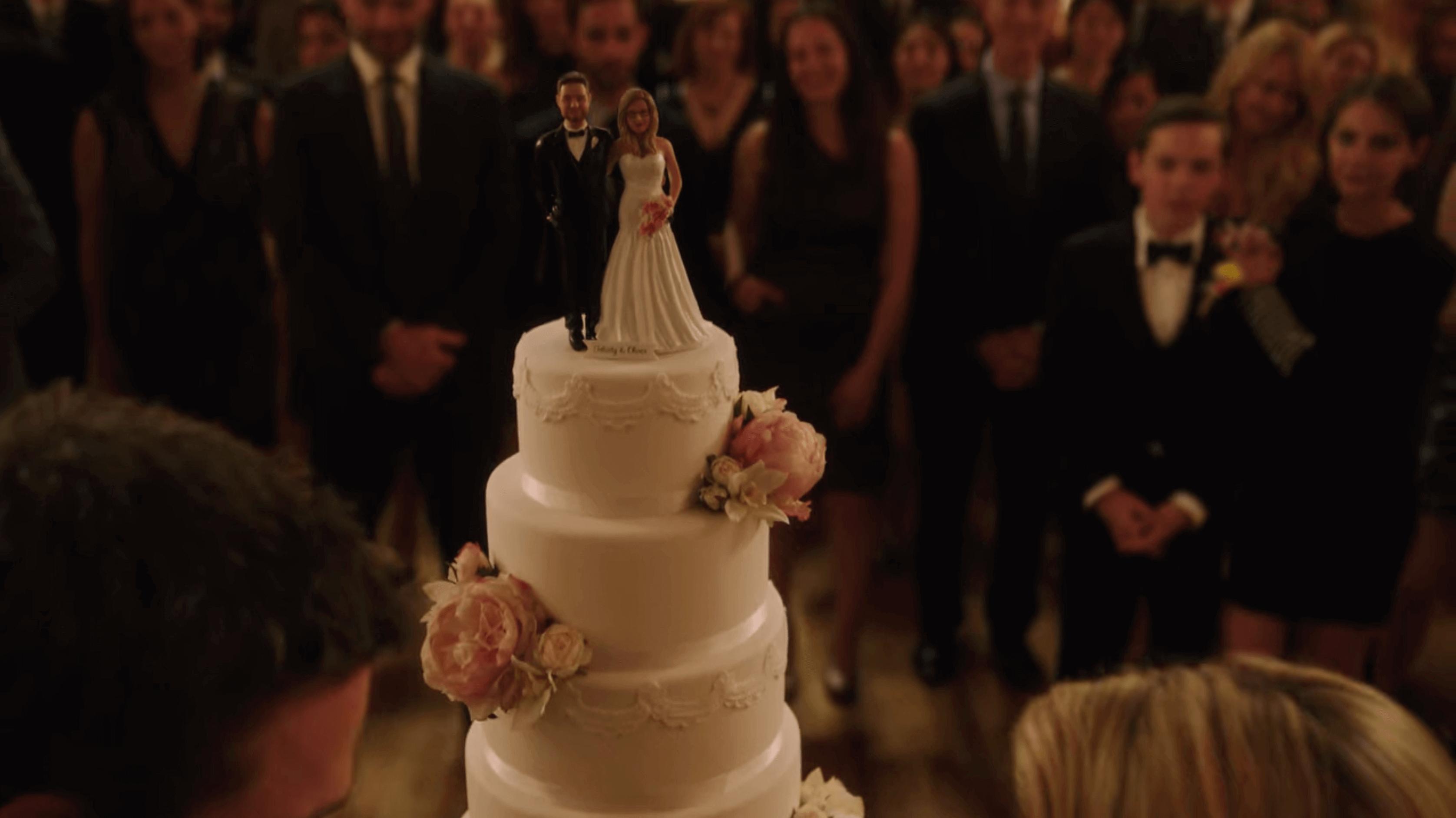wedding cake topper from Arrow TV show
