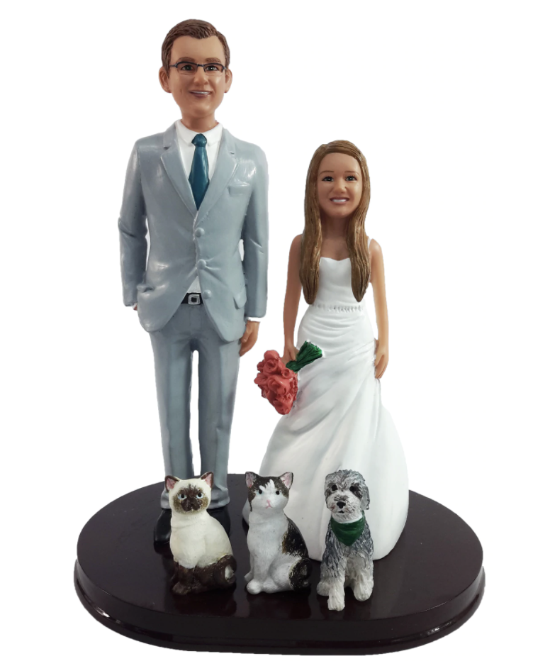 Wedding Cake Toppers with Dogs/Cats/Pets