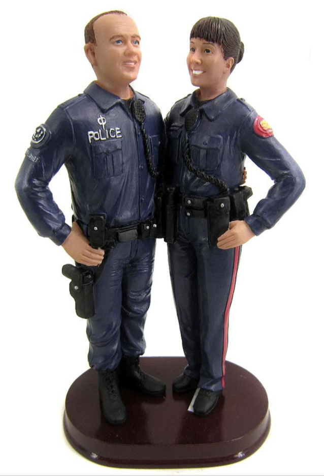 Custom Police Officer Wedding Cake Topper