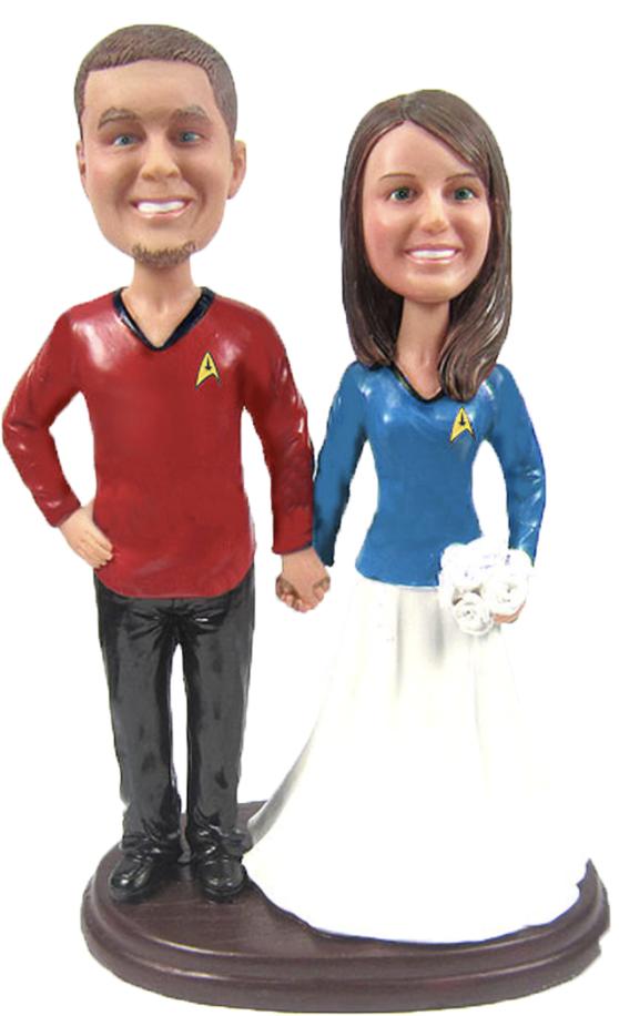 Custom Star Trek Wedding Cake Toppers
