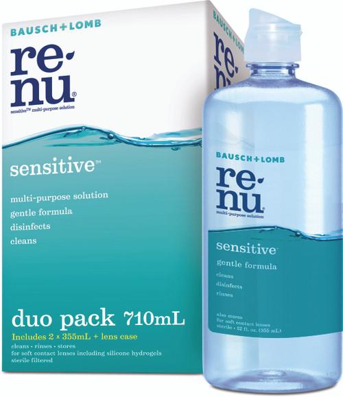 Renu Sensitive Multi-purpose Solution Duo Pack Front