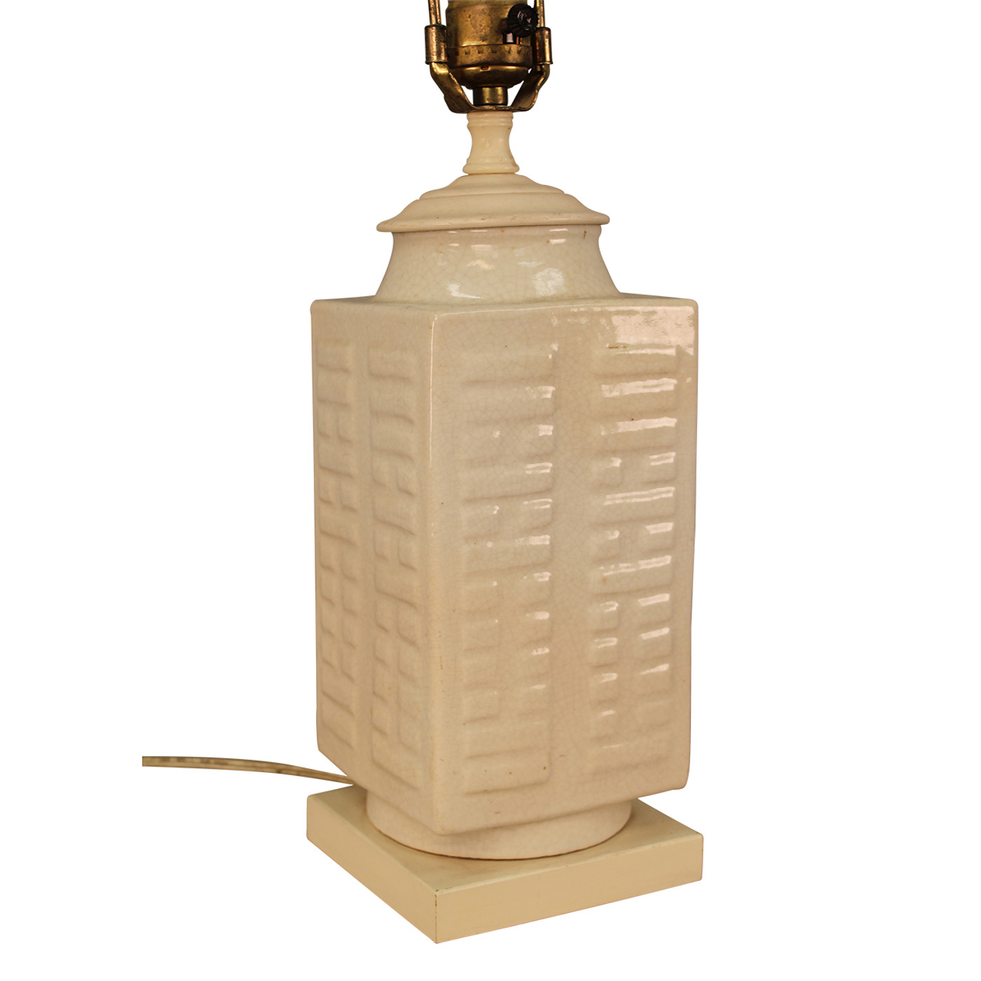 Table Lamp from 19th c. Porcelain - White