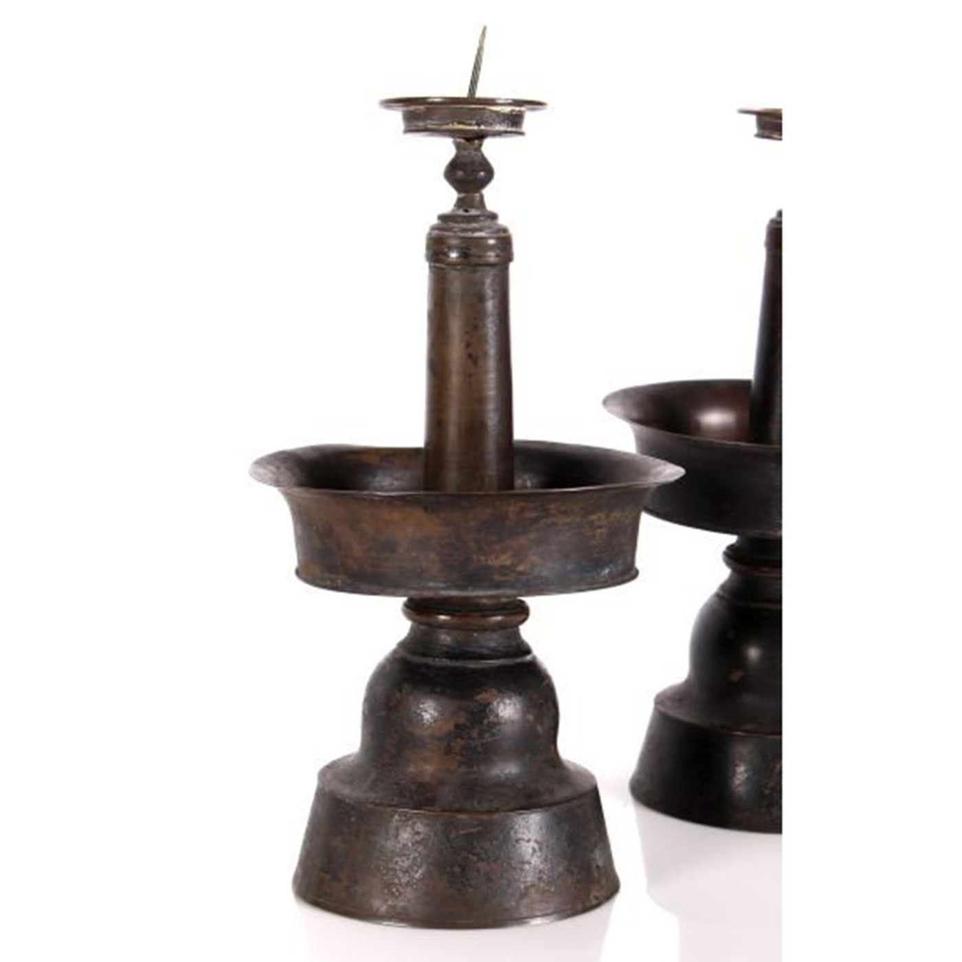 Bronze Candlestands, 19th c. Chinese - PAIR