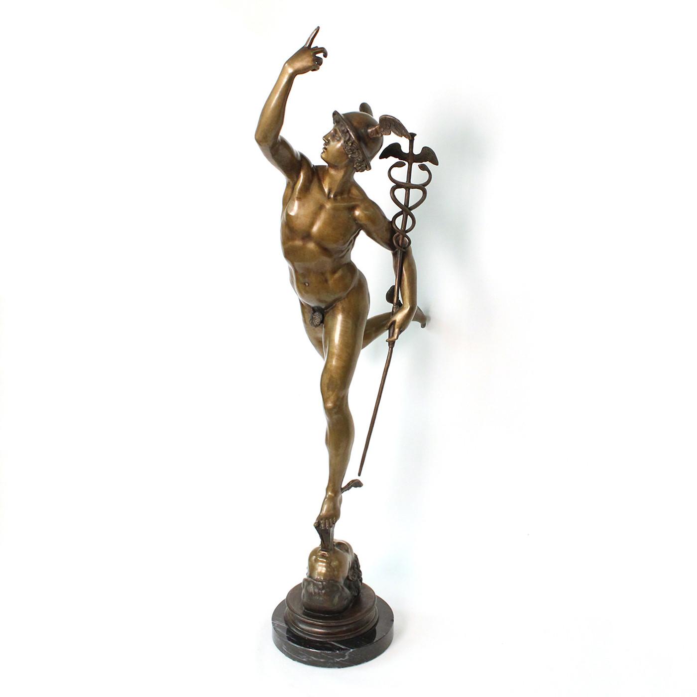 Bronze Sculpture of Mercury/Hermes, 19th c.