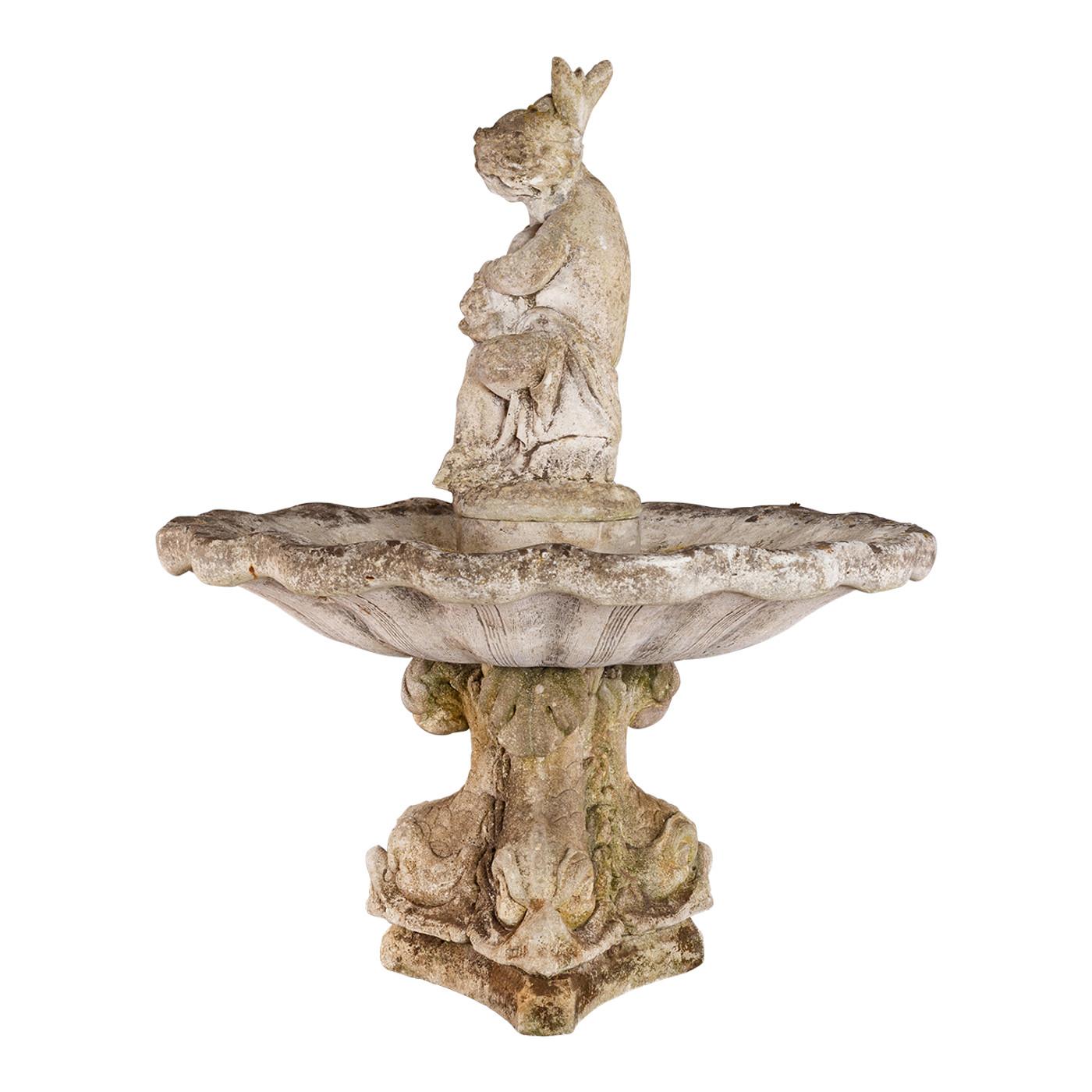 French Stone Fountain circa 1940