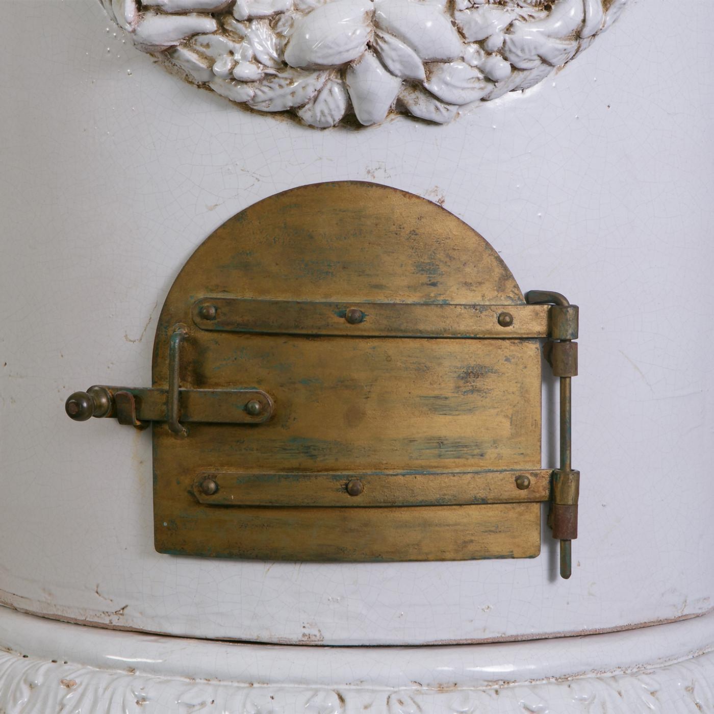 Antique Gustavian Glazed Terracotta Stove